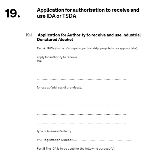 IDA license application
