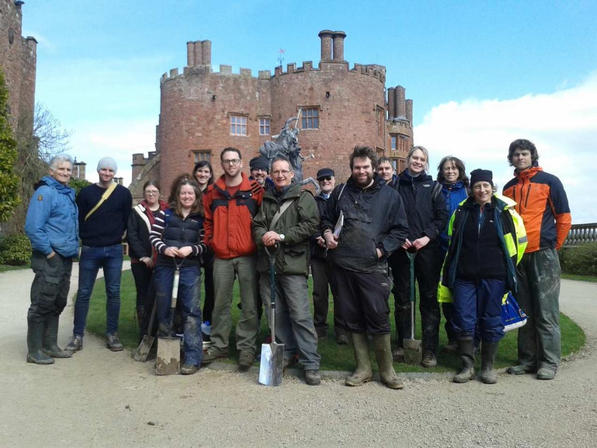 Participants at Powis Castle.