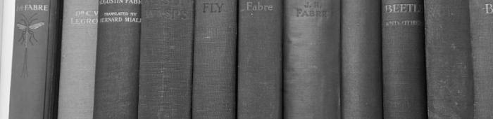 Books on the Fabre shelf